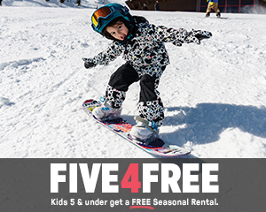 FIVE4FREE - Kids 5 & under get a FREE Seasonal Rental