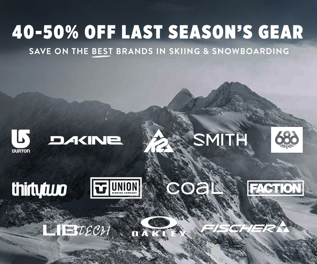 Discounts on last season's gear