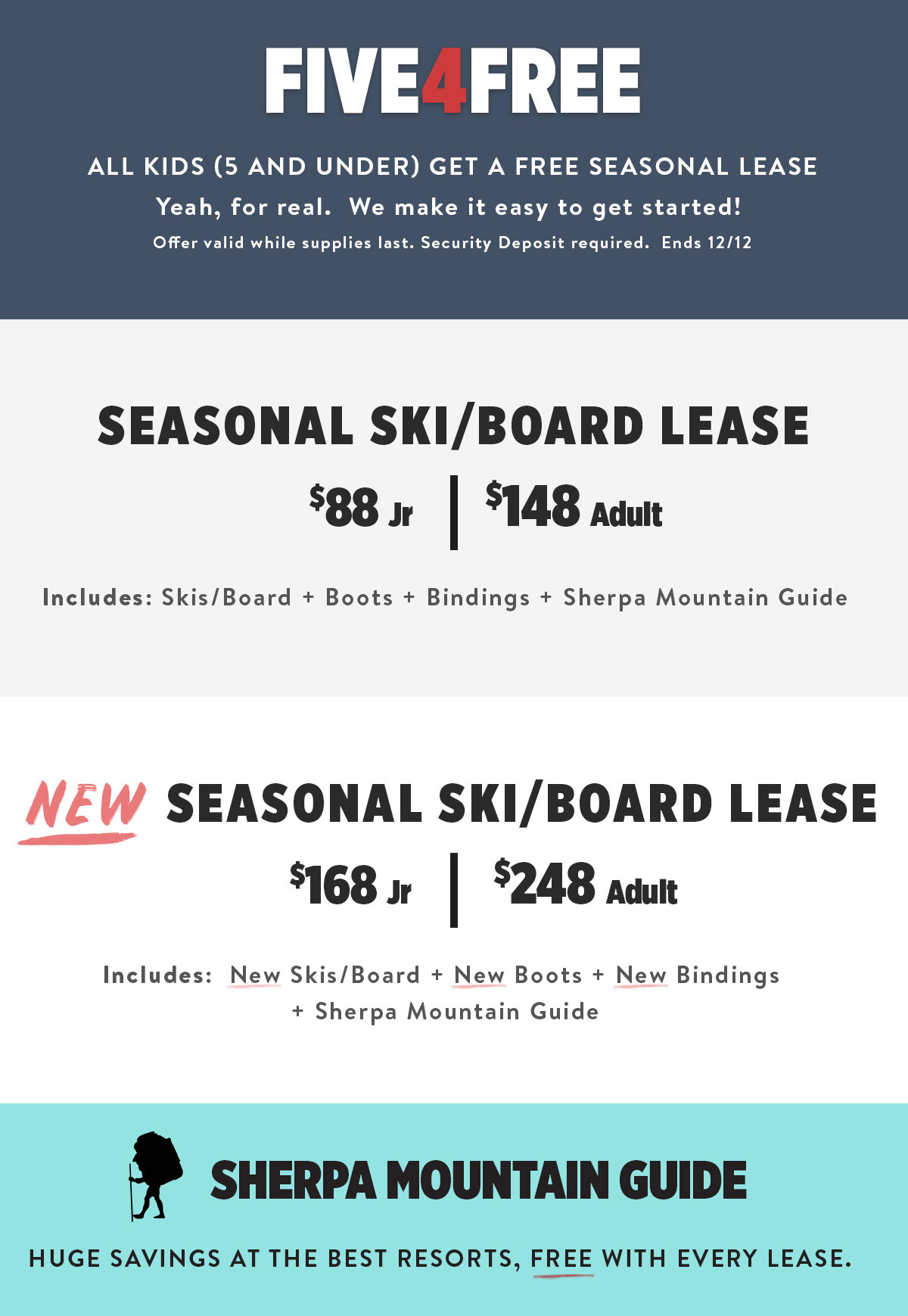Seasonal Rental Deals