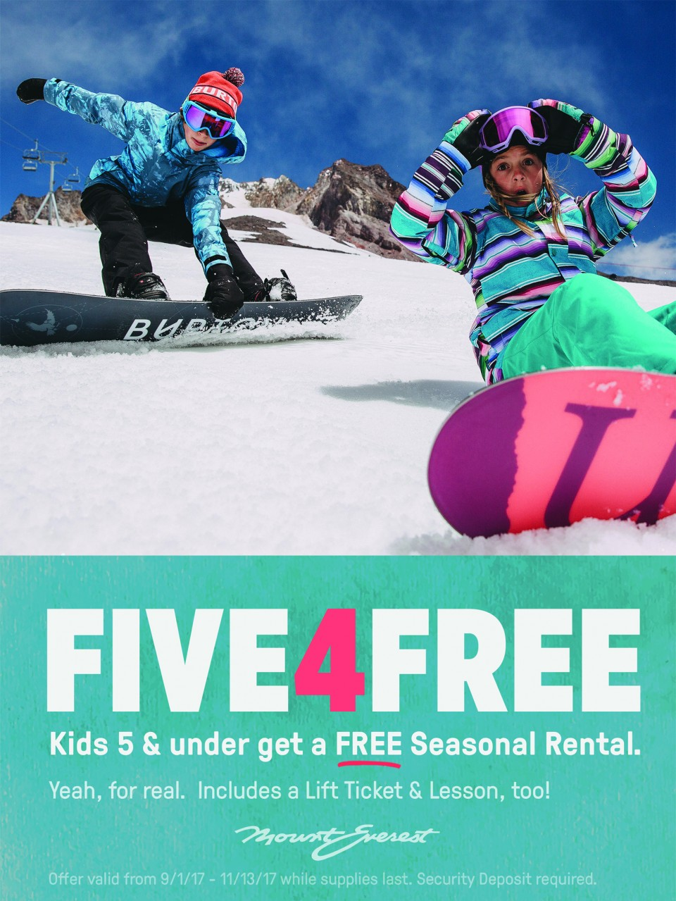 Mount Everest five4free lease event