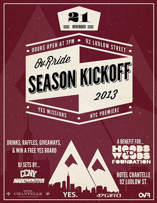 OvRide season kickoff party flyer