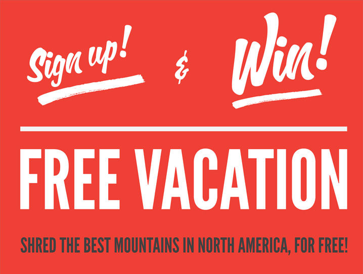 Win trips giveaways